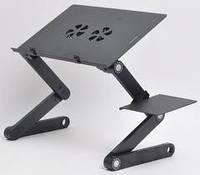 """Столик  для ноутбука  раскладной (трансформер) 2 USB кулера """"OMEIDI-T6"""". Высокое качество,гарантийный талон!, фото 1"""