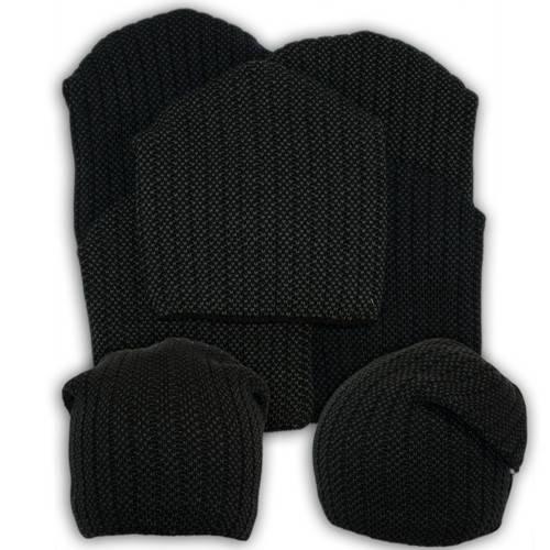 Вязаная шапка с защипом для мальчика,V236, подкладка флис