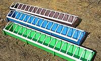Кормушка для птицы пластиковая (цветная), 50х9см, высота 5см, 20шт/уп