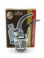 Кальян мини водяной фильтр для сигарет 13Х10Х3 см бронза,стекло