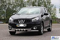 Nissan Qashqai 2010-2015 Передний ус ST015
