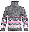 """Детский теплый шерстяной свитер """"Олени"""", для мальчиков, оптом, фото 5"""