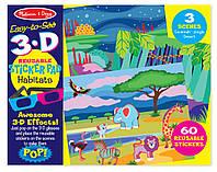 """Многоразовые 3-D наклейки с очками """"Места обитания животных"""", Melissa&Doug"""