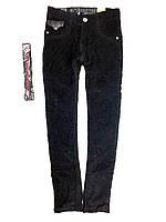 Детские теплые вельветовые брюки на флисе