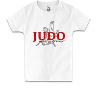 Детская футболка Дзюдо с силуэтом борцов