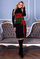 Вязаная женская туника, платье Бамбук в расцветках