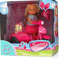 Детский набор Кукла Еви Прогулка на скутере с собачкой Simba