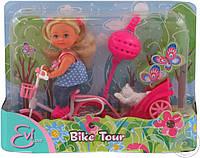 """Детский набор кукла Еви """"Прогулка на велосипеде"""" Simba"""