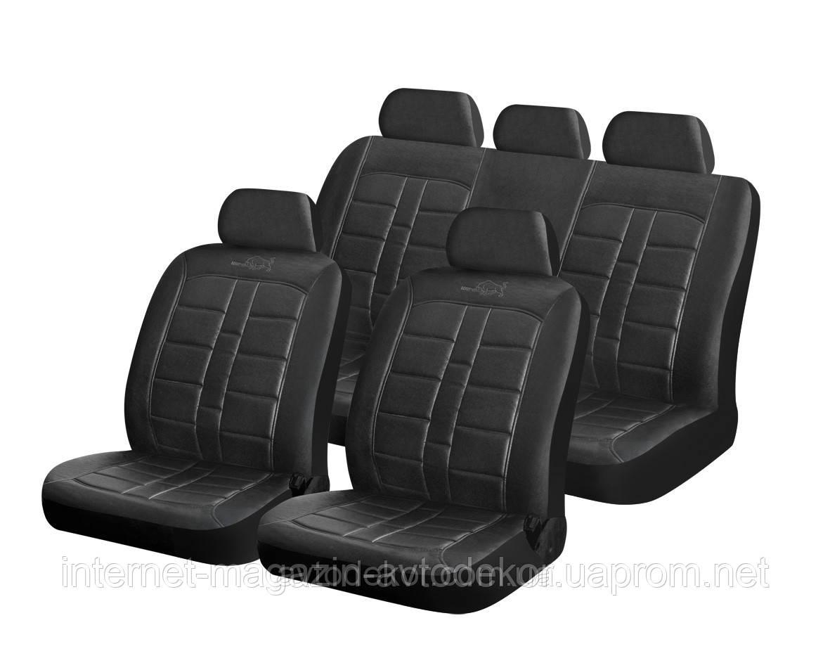 Чехлы на сиденья, кожзам H&R Rodeo (Израиль), черные