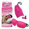 Маска для сна + беруши с дорожным мешочком в розовом цвете
