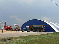 Каркасно-тентовое зернохранилище