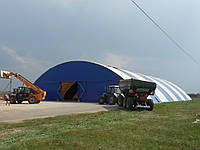 Быстровозводимая конструкция зернохранилище