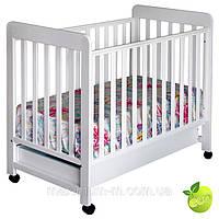 Детская кроватка с ящиком для белья ZEFIR white