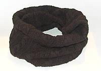 Мужской шарф - труба коричневый