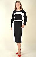 Платье на полную фигуру, платье из плотного трикотажа Джерси ,  Пл 747031