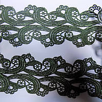 Мереживо макраме зелен 6 см