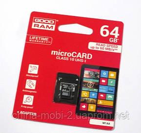 Карта памяті 64ГБ флешка micro SD 64Gb