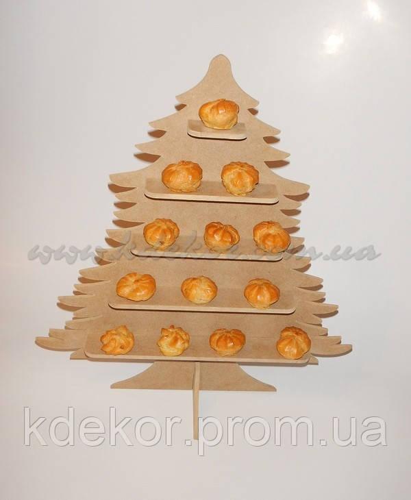 ЕЛКА (ЕЛОЧКА) подставка  для конфет, капкейков, кексов заготовка для декора