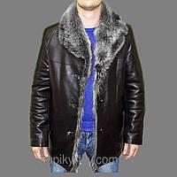 Зимняя кожанная куртка с мехом 4