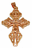 Крестик фирмы TSATSA, позолота с красным оттенком. Высота крестика 3,5 см. ширина 20 мм