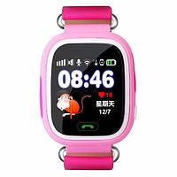 Детские умные gps часы сенсор Smart baby watch Q100 Wifi pink Гарантия 12 мес