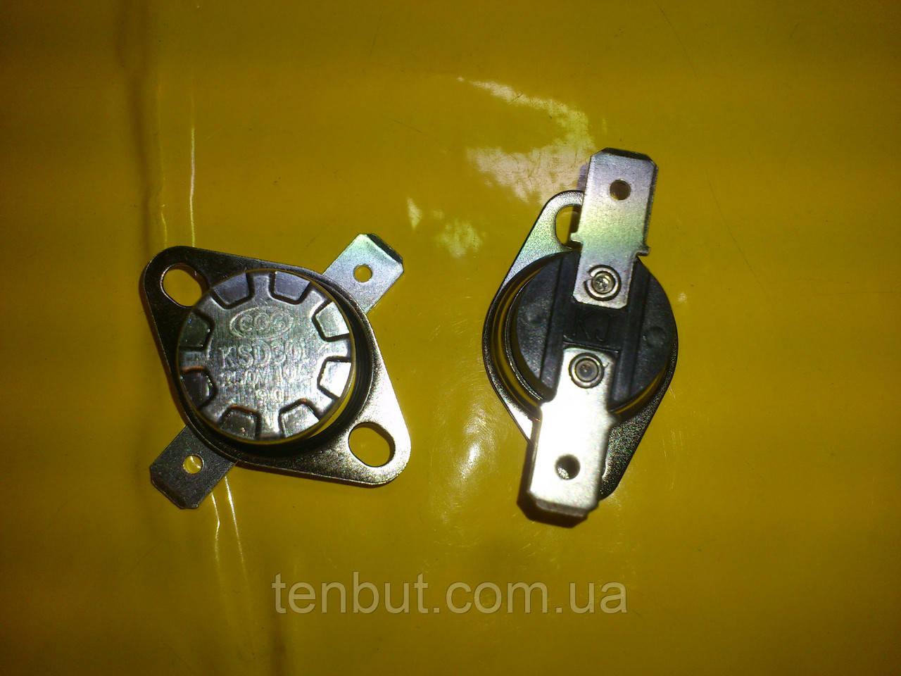 Реостат авто включения-выключения KSD 301 / 90℃ / 250 в. / 10 А / 17 мм. диаметр . Нормально замкнут .