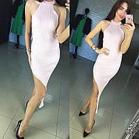 """Модное, выразительное, женское платье """"Машинная вязка, американская пройма, высокий вырез"""" РАЗНЫЕ ЦВЕТА"""
