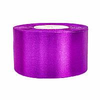Атласная лента 5 см х 36 ярдов  Фиолетовая