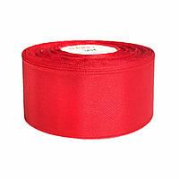 Атласная лента 5 см х 36 ярдов  Красная