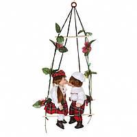 """Набор кукол подвесных фарфоровых 30 см. """"Кристина и Эдгар"""" разноцветный"""