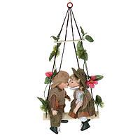 """Набор кукол подвесных фарфоровых 30 см. """"Ева и Анжей"""" разноцветный"""