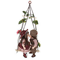 """Набор кукол подвесных фарфоровых 30 см. """"Думитру и Камила"""" разноцветный"""