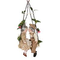 """Набор кукол подвесных фарфоровых 40 см. """"Дедушка с бабушкой рядышком"""" разноцветный"""
