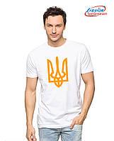 Мужская футболка с принтом тризуб