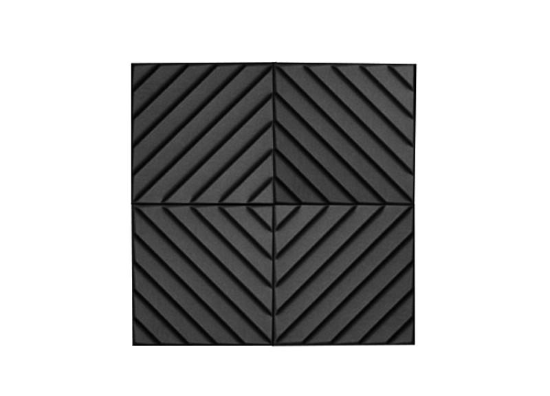 Акустическая панель Ecosound Acoustic Wave из акустического поролона 70мм, 50х50 см (на фото 4 штуки)