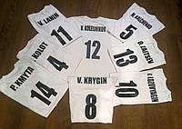 Печать фамилий и номеров на футбольной форме