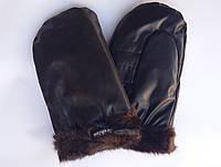 Рукавицы зимние черные на меху Fashion