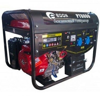 Генератор Edon (Эдон) 6,0 кВт Edon, однофазный, электростартер