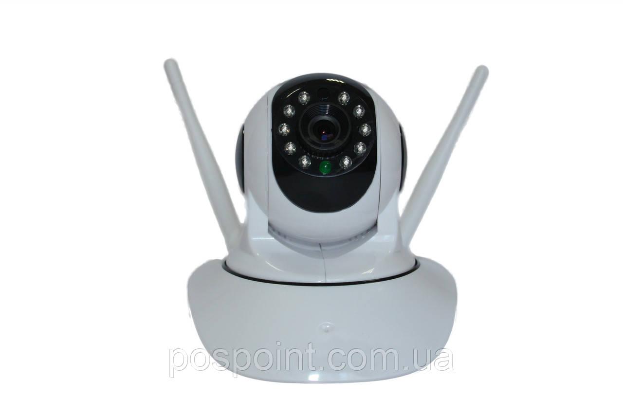 Поворотная Wi Fi IP камера с записью на SD Wanscam