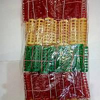 Бигуди пластмассовые с резинкой 100 шт., (63 мм/23 мм)