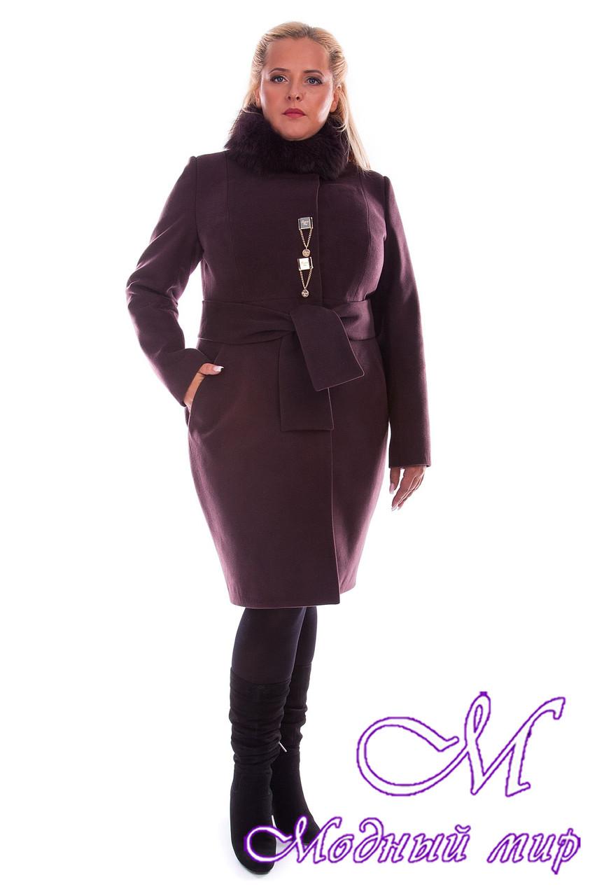 Женское стильное зимнее пальто больших размеров (р. XL-4XL) арт. Магия донна зима - 3984