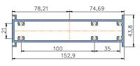 KMD.F50.US152,9.Профиль Усиливающий 152,9 мм (под стойку 170)