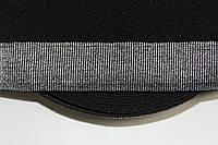 Резинка декоративная 50мм, черный+серебро , фото 1
