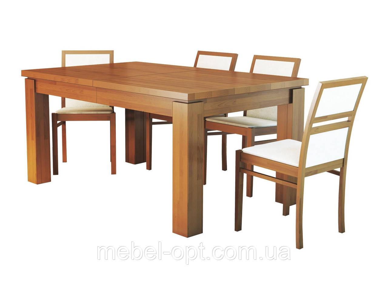 Раскладной деревянный стол Эльбридж, натуральный дуб 160/360х90см (4вставки по 50см)