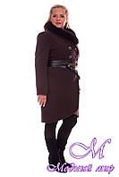 Женское зимнее пальто большого размера (р. XL-4XL) арт. Кураж донна зима - 4088