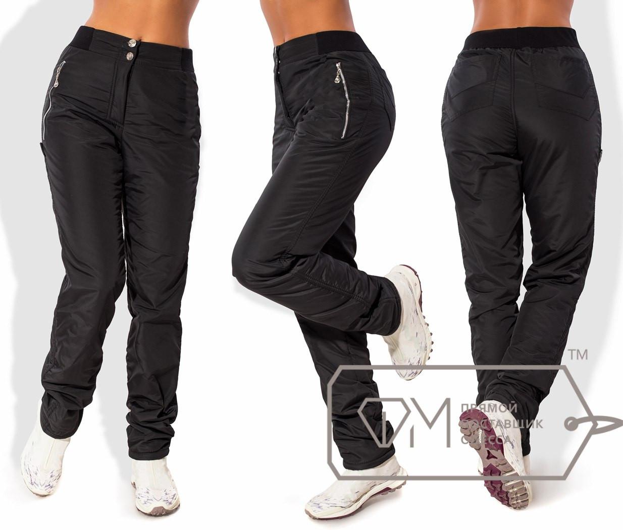 Женские брюки на флисе размер S M L