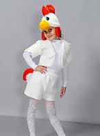 """Детский карнавальный костюм """"Петух"""" белый"""