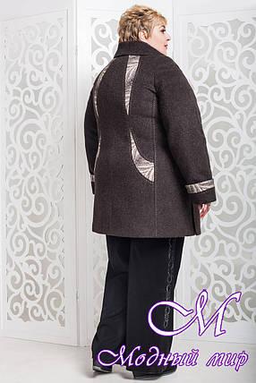 Теплое женское пальто больших размеров (р. 62-72) арт. 587 Unito Тон 16, фото 2