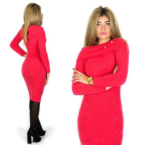 Красное платье 15587, фото 2