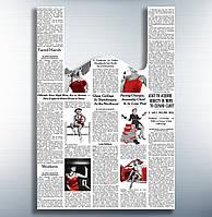 """Пакеты полиэтиленовые майка """"Газета цветная """"34-60 см /уп-50шт"""